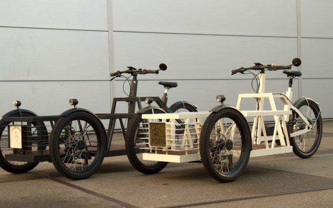 elektrische bakfiets voor ijstransport